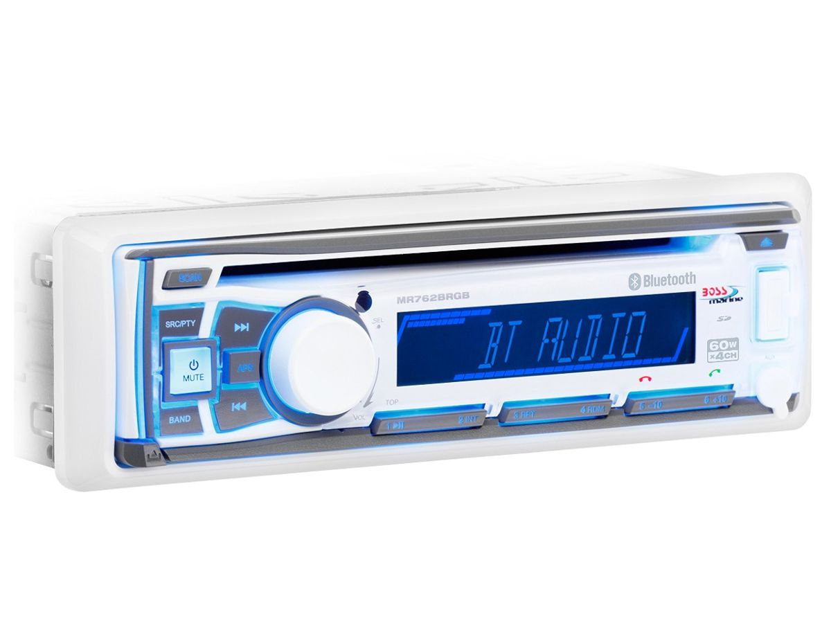 Som Marinizado Boss Marine MR762BRGB- Bluetooth, Mp3, AM/FM