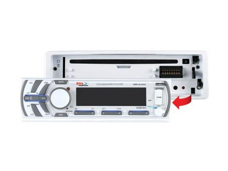 Clique para ampliar! Toca Cd Mp3 Player Usb Sd Maritimo Boss - MR-1440